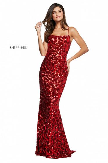 Rochie Sherri Hill 53456 red