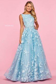 Rochie Sherri Hill 53465 light blue