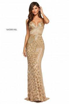 Rochie Sherri Hill 53489 gold