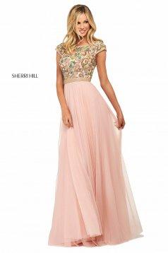 Rochie Sherri Hill 53543 blush/multi