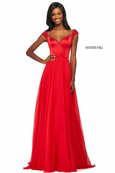 Rochie Sherri Hill 53549 red