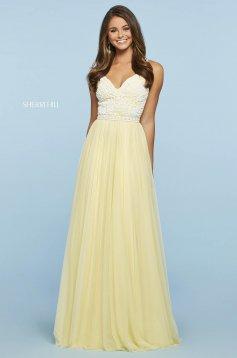 Rochie Sherri Hill 53556 yellow