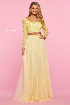 Rochie Sherri Hill 53559 yellow