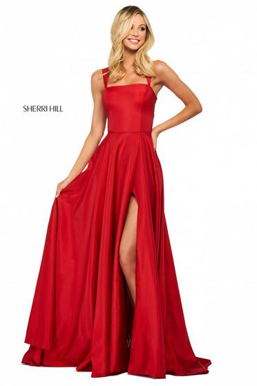 Rochie Sherri Hill 53561 red