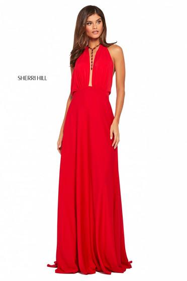 Rochie Sherri Hill 53577 red