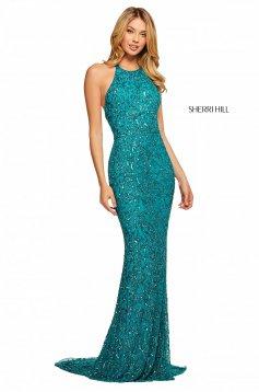 Rochie Sherri Hill 53614 turquoise