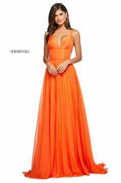 Rochie Sherri Hill 53634 orange