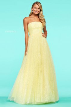 Rochie Sherri Hill 53638 yellow