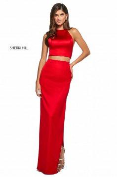 Rochie Sherri Hill 53650 red
