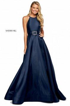 Rochie Sherri Hill 53659 navy