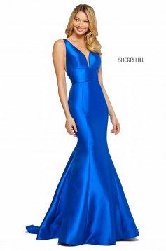 Rochie Sherri Hill 53660 navy