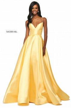 Rochie Sherri Hill 53661 yellow