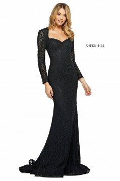 Rochie Sherri Hill 53682 black