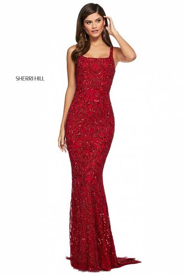 Rochie Sherri Hill 53691 red