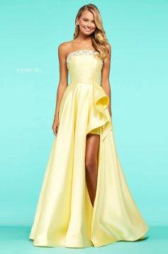 Rochie Sherri Hill 53710 yellow