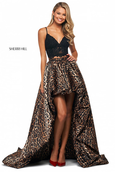 Rochie Sherri Hill 53721 black/animal