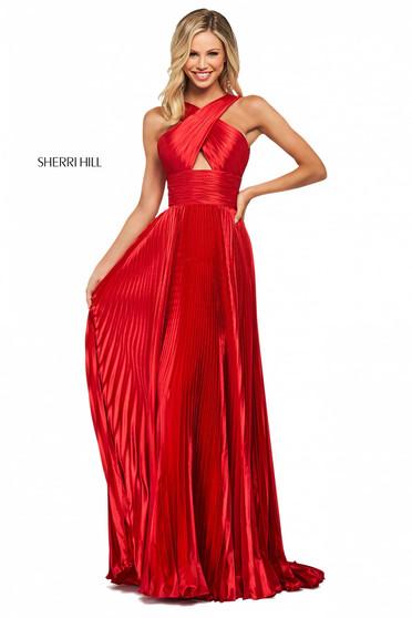 Rochie Sherri Hill 53762 red
