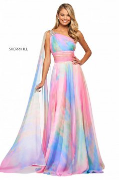 Rochie Sherri Hill 53768 multi print