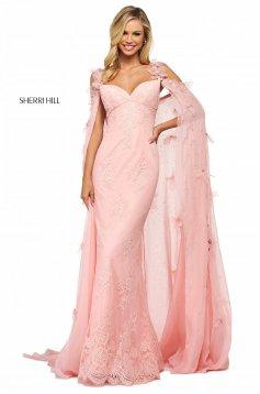 Rochie Sherri Hill 53822 blush