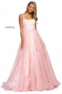 Rochie Sherri Hill 53823 blush