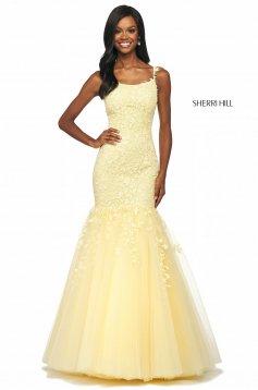 Rochie Sherri Hill 53826 yellow