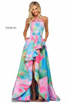 Rochie Sherri Hill 53871 multi