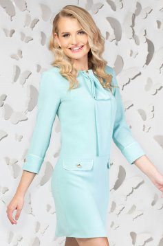 Lightblue elegant straight short cut dress