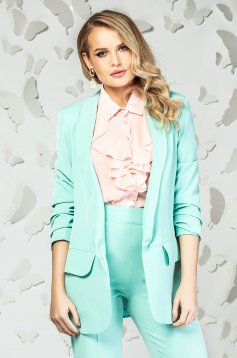 Mint jacket office long flared with pockets