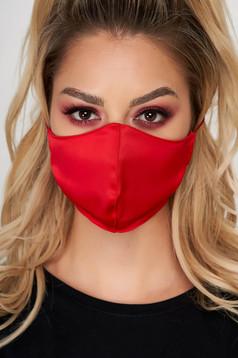 Masca de protectie StarShinerS rosie din satin cu gaici laterale