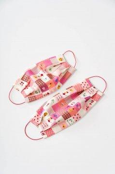 Set 5 bucati masca de protectie pentru copii StarShinerS roz din bumbac subtire