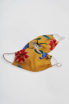 Masca de protectie pentru copii StarShinerS mustarie din bumbac subtire