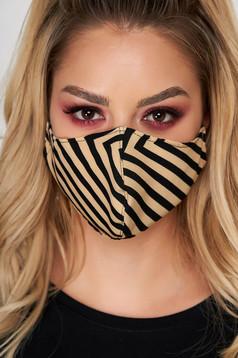Masca de protectie StarShinerS maro din material textil