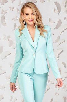Jacket turquoise tented slightly elastic fabric