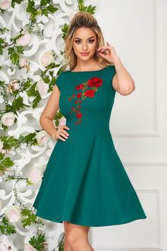 StarShinerS green dress elegant short cut cloche short sleeves