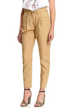 Peach trousers casual conical with pockets