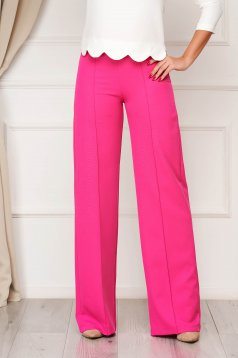 StarShinerS fuchsia trousers elegant flared cloth from elastic fabric long