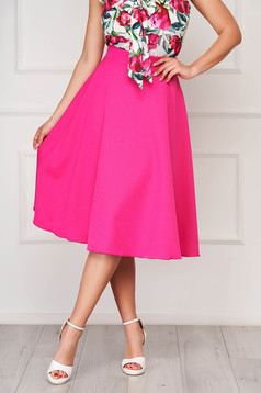 StarShinerS pink elegant midi cloche skirt without clothing