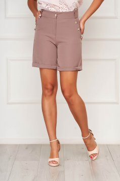 Cappuccino short casual tented cloth with pockets from elastic fabric