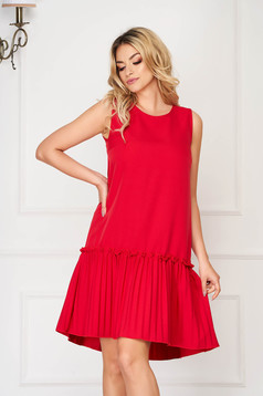 StarShinerS red dress daily short cut cloth from elastic fabric with easy cut sleeveless