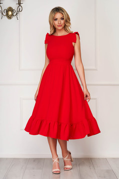 Red elegant midi StarShinerS dress cloth