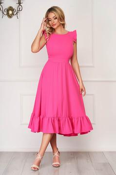 Pink elegant midi StarShinerS dress cloth