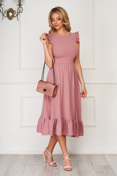 Lila elegant midi StarShinerS dress cloth