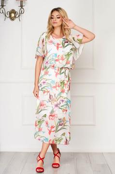 StarShinerS white dress midi daily cloche thin fabric