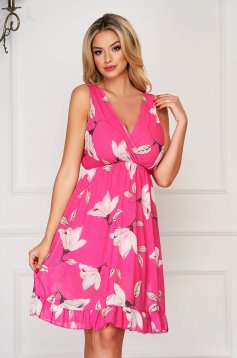 StarShinerS pink dress daily midi from veil fabric cloche with elastic waist
