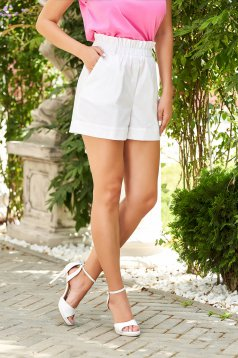 White short high waisted thin fabric
