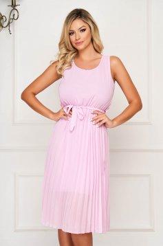 Lila dress midi daily cloche with elastic waist folded up sleeveless