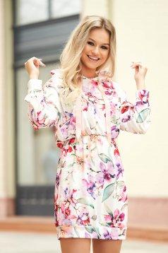 Peach dress casual short cut with elastic waist