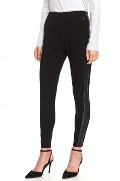 Black tights casual with tented cut with elastic waist