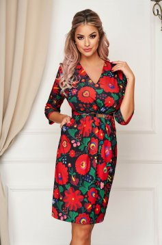 StarShinerS red dress elegant daily midi pencil thin fabric
