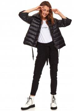 Black jacket casual short cut 3/4 sleeve